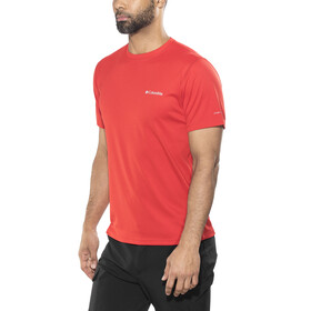 Columbia M's Zero Rules SS Shirt red spark